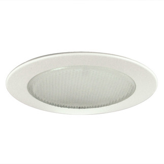 6 in. - White Albalite Shower Trim - Nora NT-22 - Light Fixture Accessory