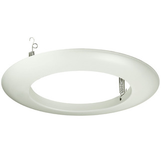 6 in. - White Open Trim  - Nora NT-40 - Light Fixture Accessory