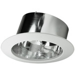 6 in. - Chrome Slope Ceiling Reflector - Nora NTS-615C - Light Fixture Accessory
