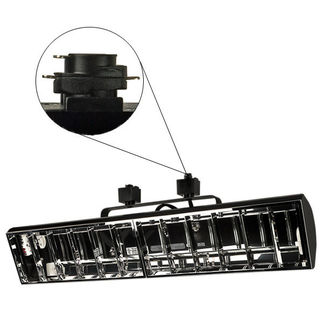 Nora NTF-3240B - Black - Chrome Louver - Operates (2) 40 Watt F40 Biax Lamps - Compatible with Halo Track - Built-In Electronic Ballast