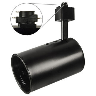 Nora NTH-101B - Black - Flat Back Cylinder with Black Baffle - Operates 50 Watt R/PAR20 - Compatible with Halo Track - 120 Volt