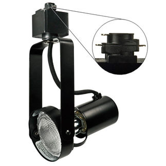 Black - Front Loading Gimbal Ring - Operates 50 Watt PAR20 - Compatible with Halo Track - 120 Volt - Nora Lighting NTH-146B