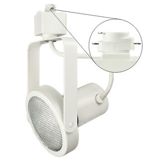 Nora NTH-107W - White - PAR30 Gimbal Ring - Compatible with Halo Track - 120 Volt