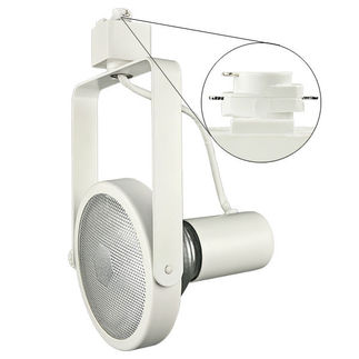 Nora NTH-108W - White - PAR38 Gimbal Ring - Compatible with Halo Track - 120 Volt