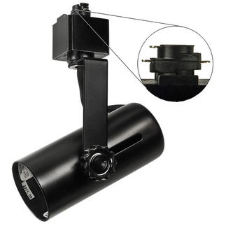Nora NTH-109B - Black - Universal Lamp Holder - Operates PAR38 - Compatible with Halo Track - 120 Volt