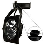Nora NTL-250B - Black - Sail - Operates 20-50 Watt AR111 - Compatible with Halo Track - Built-In 12 Volt Electronic Transformer