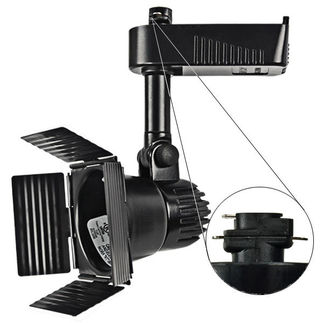 Nora NTL-208B - Black - Barndoor - Operates 20-50 Watt MR16 - Compatible with Halo Track - Built-In 12 Volt Electronic Transformer