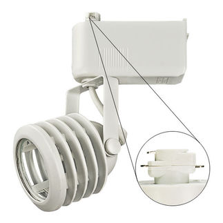 Nora NTL-212/75N - Natural Metal - Multi-Stepped - Operates 20-75 Watt MR16 - Compatible with Halo Track - Built-In 12 Volt Electronic Transformer