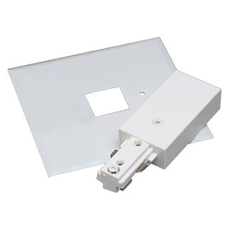Black - Live End Feed with Canopy - Single Circuit - Compatible with Halo Track - Nora Lighting NT-311B