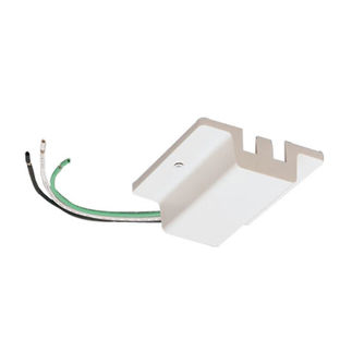 White - Floating Canopy Feed  - Single Circuit - Compatible with Halo Track - Nora Lighting NT-307W