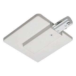White - Live End Feed with Canopy - Single Circuit - Compatible with Halo Track - Nora Lighting NT-352W