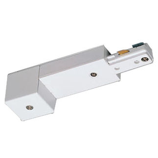 White - Live End Conduit Connector - Single Circuit - Compatible with Halo Track - Nora Lighting NT-328W