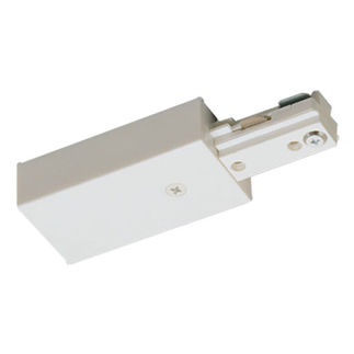 White - Live End Feed - Single Circuit - Compatible with Halo Track - Nora Lighting NT-316W