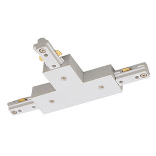 White - T-Connector - Single Circuit - Compatible with Halo Track - Nora Lighting NT-314W