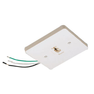 Nora NT-319W - White - Mono Point Power Feed - Single Circuit - Compatible with Halo Track