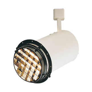 Black - Track Head Louver - R40/PAR38 - Compatible with Halo Track - Nora Lighting NT-343