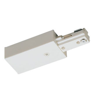 White - Live End Feed - Right Hand Polarity - Dual Circuit - Compatible with Halo Track - Nora Lighting NT-2316W/R