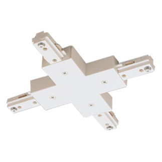 White - X-Connector - Right Hand Polarity - Dual Circuit - Compatible with Halo Track - Nora Lighting NT-2315W/R
