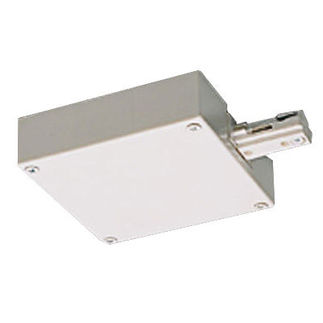 Nora NT-2348W - White - T-Bar End Feed Current Limiter - Dual Circuit - Compatible with Halo Track
