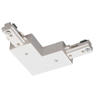 Nora NT-2313W/L - White - L-Connector - Left Hand Polarity - Dual Circuit - Compatible with Halo Track
