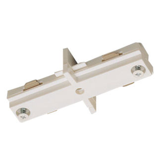 White - Straight Connector - Dual Circuit - Compatible with Halo Track - Nora Lighting NT-2310W