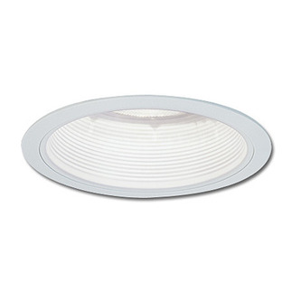 4 in. - Stepped White Baffle with White Ring - Premium Quality Brand PS40 - Light Fixture Accessory