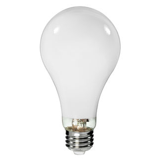 100 Watt - Mercury Vapor - 4400 Lumens - 3700K - Coated - Medium Base - ANSI H38 - H38MP-100/DX - Philips Lighting 35658-4 A23 Mercury Vapor