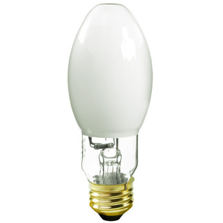 175 Watt - BD17 - Unprotected Arc Tube - 3700K - Medium Base - White Coated - ANSI M57/E - Universal Burn - Philips 31359-3 BD17 Metal Halide