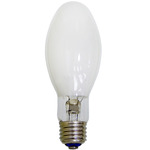 100 Watt - Mercury Vapor - 4000 Lumens - 3900K - Coated - Medium Base - ANSI H38 - Plusrite 2301 ED17 Mercury Vapor