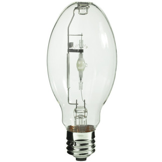 100 Watt - ED28 - Pulse Start - Metal Halide - Unprotected Arc Tube - 4200K - Mogul Base - ANSI M90/E - Universal Burn - MH100/ED28/U/4K - Plusrite 1012 ED28 Metal Halide