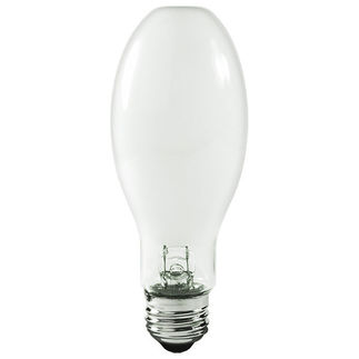 50 Watt - ED17 - Pulse Start - Metal Halide - Unprotected Arc Tube - 4000K - Medium Base - White Coated - ANSI M110/E - Universal Burn - MH50/ED17/C/U/4K - Plusrite 1001