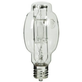 175 Watt - BT28-P - Pulse Start - Metal Halide - Protected Arc Tube - 4200K - Mogul Base - ANSI M152/O or M137/O - Base Up Burn - Plusrite 1607 BT28-P Metal Halide