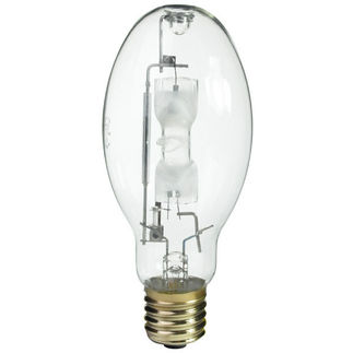 Plusrite 1581 - 320 Watt - ED28 - Pulse Start - Metal Halide - Unprotected Arc Tube - 4200K - Mogul Base - ANSI M154/E or M132/E - Horizontal Base Up Burn - MS320/ED28/PS/HBU/4K