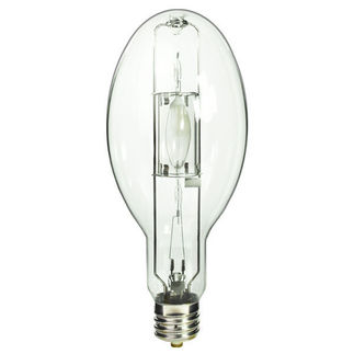 Plusrite 1622 - 350 Watt - ED37-P - Pulse Start - Metal Halide - Protected Arc Tube - 4200K - Mogul Base - ANSI M131/O or M135/O or M155/O - Base Up Burn - MP350/ED37/PS/BU/4K