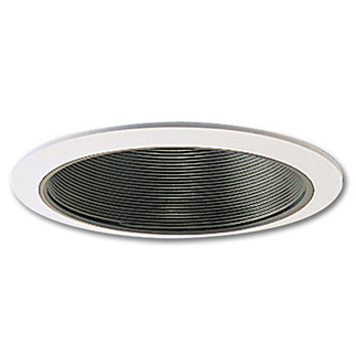 6 in. - Black Stepped Baffle with Oversized Ring - Premium Quality Brand PTM40/OV - Light Fixture Accessory