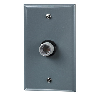 Precision A-105W - Lumatrol Button Type Photo Control - Fixed Position Mounting - Metal Wall Plate Included - 120 Volt