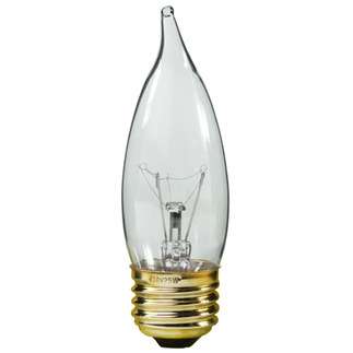 25 Watt - CA10 - Bent Tip - 130 Volt - 5,000 Life Hours - Medium Base - Chandelier Decorative Light Bulb - Premium Quality Brand 81261 Chandelier Light