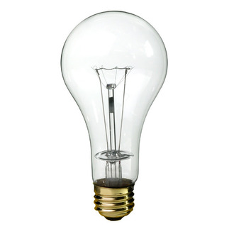 100 Watt - Clear - A21 Light Bulb - 130 Volt - 5,000 Life Hours - PQB 60553 Standard Light Bulb
