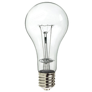 300 Watt - Clear - PS35 - Mogul Base - 130 Volt - 10,000 Life Hours - PQB 82377 PS35 Incandescent Light Bulb