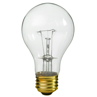 60 Watt - Clear - A19 Light Bulb - 130 Volt - 10,000 Life Hours - PQB 81538
