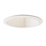 6 in. - White Stepped Baffle with Oversize Ring - Premium Quality Brand PTM31/OV - Light Fixture Accessory