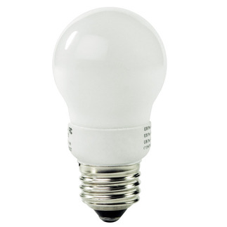 4 Watt - A-Shape CFL - 25 W Equal  - 2700K Warm White - 82 CRI - Min. Start Temp. -20 Deg. F - 56 Lumens per Watt - 15 Month Warranty - TCP 11304 A-Shape CFL Medium Base