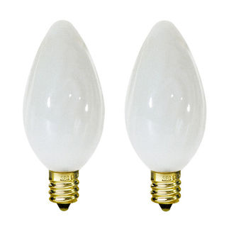 25 Watt - F10 - White Coated - Wrinkled Glass - 120 Volt - Candelabra Base - Chandelier Decorative Light Bulb - Satco S2772 Chandelier Light