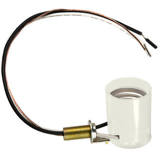 Medium Incandescent Socket with Leads