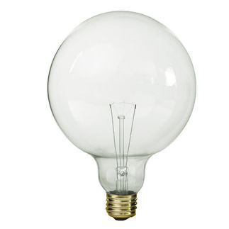 Bulbrite 351100 - 100 Watt - G40 Globe - Clear - 3,000 Life Hours - 990 Lumens - Medium Base - 125 Volt