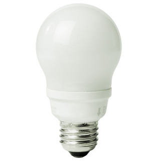 9 Watt - A-Shape CFL - 40 W Equal - 2700K Warm White - Min. Start Temp. 0 Deg. F - 82 CRI - 55 Lumens per Watt - 15 Month Warranty - Bulbrite 512009 A-Shape Compact Fluorescent Light Bulb