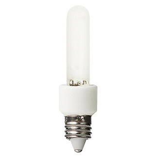 60 Watt - T3 - Frosted - 120 Volt - 3,000 Life Hours - Candelabra Base - Bulbrite 473061 T3 Halogen