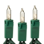 Clear - 120 Volt - 100 Bulbs - Length 52 ft. - Bulb Spacing 6 in. - 20 AWG - Green Wire - High Output - Heavy Duty Christmas Mini Light String - Christmas Lite Co. 8999C