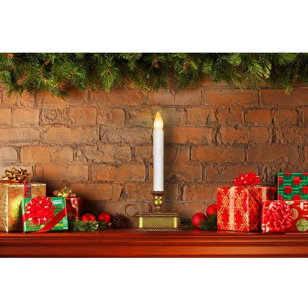 White Christmas Candle Led Gold Base