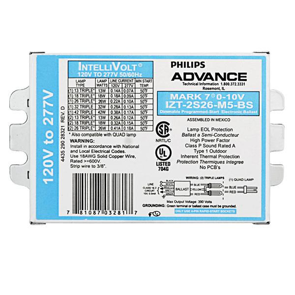 Advance IZT 2S26 M5 BS Fluorescent Ballast